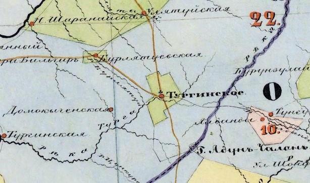 Тургинское - Карта Забайкальской области с показанием земель по ведомствам